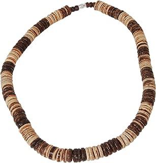 Tribal Hollywood Hawaiian Puka Shell Choker Necklace, Unisex Handmade Beach Surfer Summer Necklaces