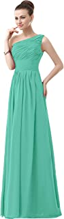 TalinaDress Chiffon Long One Shoulder Evening Prom Gown Bridesmaid Dress E143LF