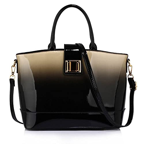 66ebf844228d Womens Handbags Ladies Designer Faux Leather Stylish Tote Shoulder Bag
