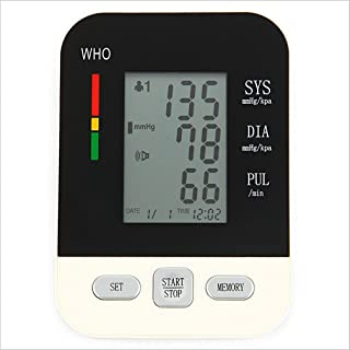 LPY-Arm Blood Pressure Monitor, High Blood Pressure Checker with Memory Storage, 2 User Mode, Digital Blood Pressure Cuff Automatically Measure Pulse Diastolic Systolic