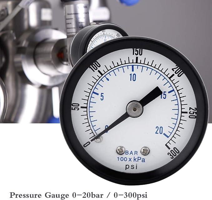 research.unir.net 0~30psi 0~2bar Mini Dial Pressure Gauge ...