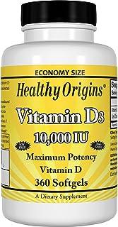 Healthy Origins 维生素D3 10000 国?#23454;?#20301; 360 粒软胶囊
