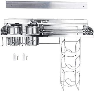 Organisateur de cuisine étagère de rangement de cuisine multifonctionnelle en acier inoxydable 304, avec panier suspendu, ...