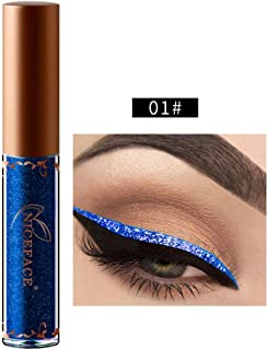 Kanzd Beauty Metallic Shiny Smoky Eyes Eyeshadow Glitter Shimmering Eye Shadow Long Lasting Waterproof Glitter Liquid Eyeliner (A)
