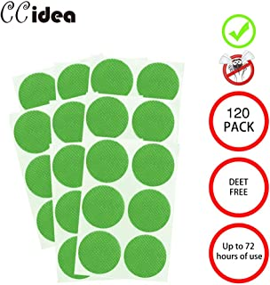 CCidea Mosquito Repellent Patch for Kids and Adults,24-Hour Protection Natural Plant Sticker 3cm Resealable,120-Count Pack