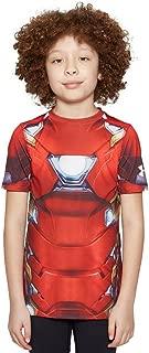 Kids Boy's Iron Man Suit Short Sleeve (Big Kids) Cardinal X-Small