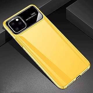に適していますiPhone 11 / Pro/Pro Maxカラーケース、超薄型で 落下防止および耐衝撃性ケース(2019),Yellow-iphone11 Pro (5.8)