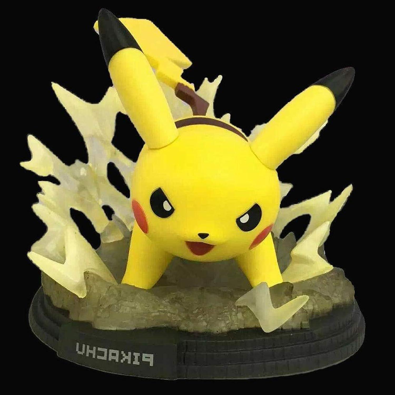 ZHPBHD Spielzeug Statue Pokemon Spielzeug Modell Cartoon Charakter Handwerk Dekoration Pikachu 12CM