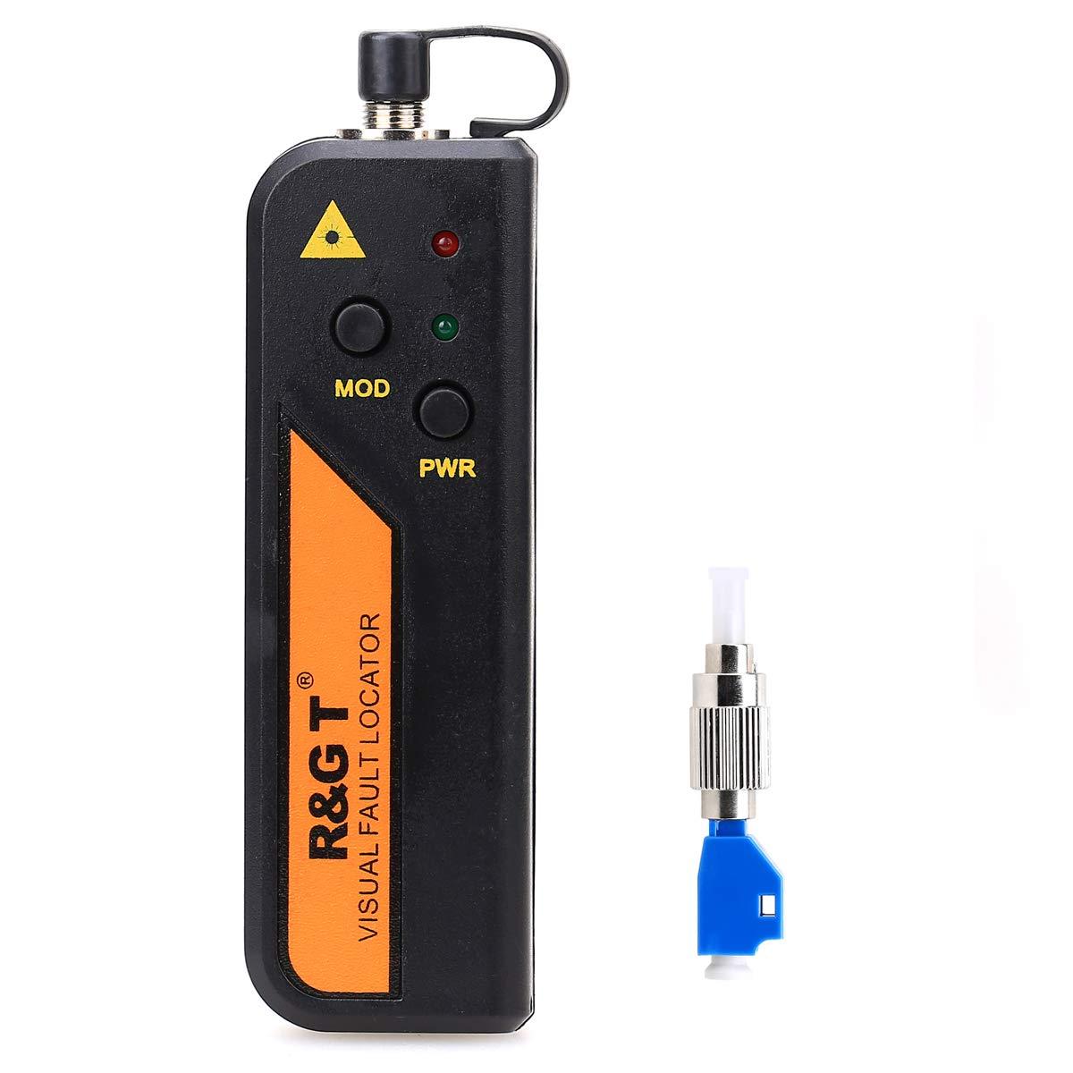 30 KM FTTH Mini localizador de fallas visuales de fibra óptica probador de cable comprobador herramienta de prueba conector universal con el adaptador FC-LC para telecomunicaciones CAT