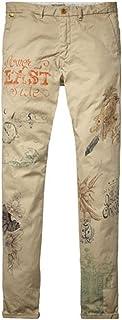 [スコッチアンドソーダ] SCOTCH&SODA メンズ チノパン Slim fit chino in all-over and placement prints (コード:4062073905)