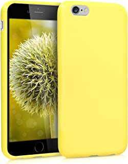 kwmobile TPU Case Compatible with Apple iPhone 6 / 6S - Soft Flexible Protective Phone Cover - Pastel Yellow Matte