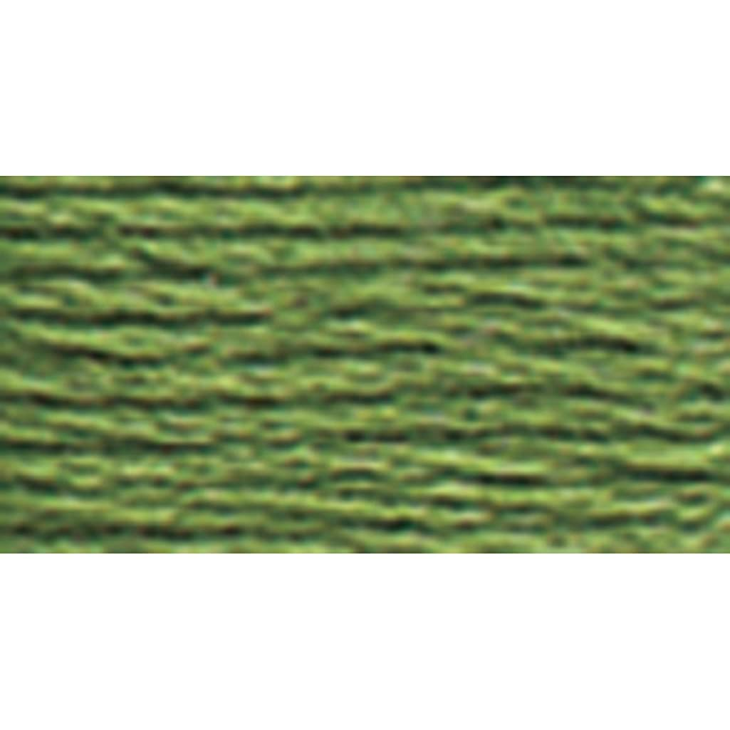 DMC 117-3363 Mouline Stranded Cotton Six Strand Embroidery Floss Thread, Medium Pine Green, 8.7-Yard