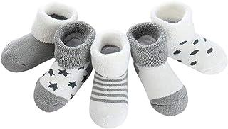 ZSWQ, Calcetines de recién nacido Calcetines Invierno de Felpa para Bebés Vistoso Cálidos y Cómodos Calcetines de Invierno