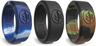 Silicone Wedding Ring for Men Solid Style Engagement Rings Silicone Wedding Band for Men Mens Ring Men Wedding Band Safe Ring for Athletes Sport Gym