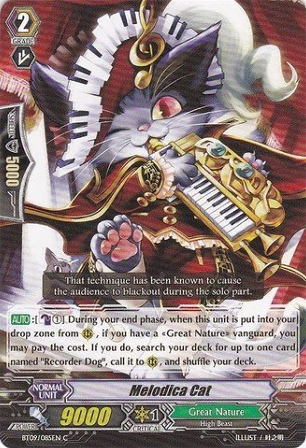 Cardfight   Vanguard TCG - Melodica Cat (BT09 085EN) - Booster Set 9  Clash of the Knights & Dragons by Cardfight   Vanguard TCG