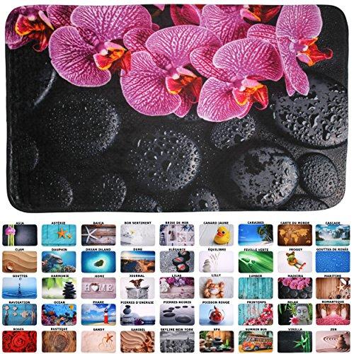 Tapis de Bain, Grande sélection de Beaux Tapis de Bain, de Haute qualité, très Doux, sèche Rapidement, Lavable (70 x 110 cm, Madeira)