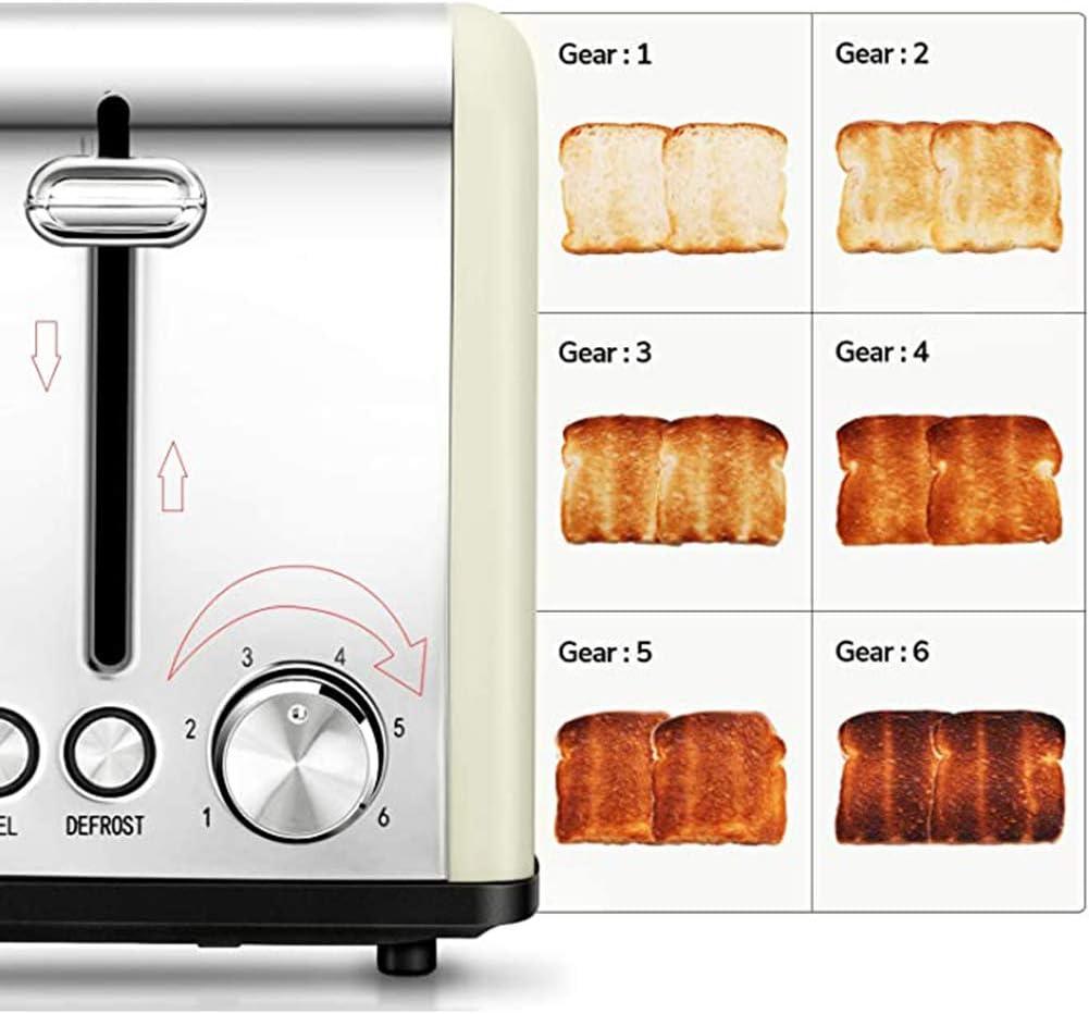 Broodrooster 2 Slice, Retro Kleine Broodrooster met Bagel, Annuleren, ontdooifunctie, Extra Wide Slot Compact RVS Toasters voor Bread Wafels,Blue White
