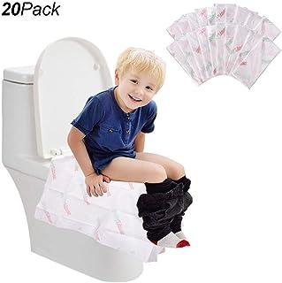 Zuhause 20Packs blau Taschengr/ö/ße T/öpfchentraining ideal f/ür Erwachsene und Kinder Einweg-WC-Sitzbez/üge T/öpfchentraining mit einzeln verpackten Reisen