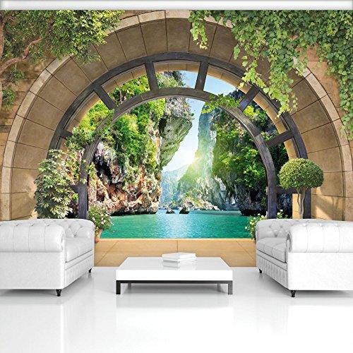 FORWALL Fototapete Vlies - Tapete Moderne Wanddeko Ausblick VEXXXXXL (520cm. x 318cm.) AMF11552VEXXXXXL Wandtapete Design Tapete Wohnzimmer Schlafzimmer