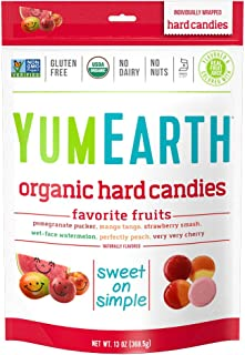 YumEarth Organic Favorite Fruit Hard Candy, 13 Ounce Bag