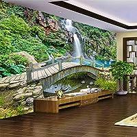 XSJ 壁紙モダンな3D立体写真リビングルーム寝室テレビ背景美しい海景洞窟壁壁画壁紙-430X300CM