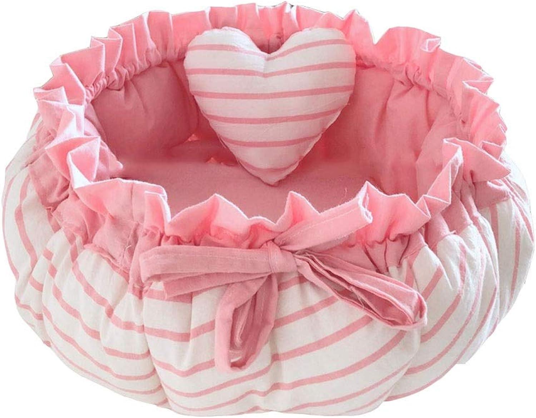 Evav Pet bed,Cute Bow Pet Nest (color   Watermelon, Size   45  40cm)