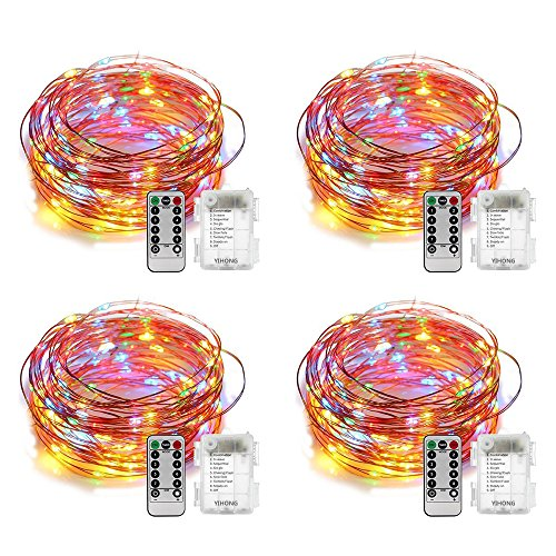 4 Sets of 50 Battery Operated Waterproof String Lights