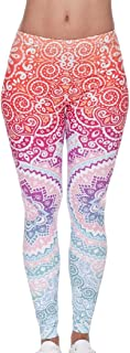 Women's Skinny Stretch High Waist Print Yoga Pants Leggings
