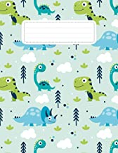 Write and Draw Journal: Dual Notebook - College Ruled Paper + Blank Paper Sketch Pad - Draw and Write Journal To Write in - Sketching Drawing Doodling ... Right Page - For Kids Boys Girls, Dinosaur