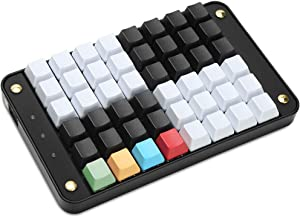 Koolertron Single-Handed Programmable Mechanical Keyboard with OEM Gateron Red Switch,All 48 Programmable Keys Tools Keypad,8 Macro Keys, PBT Keycaps.[SMKD72-A]