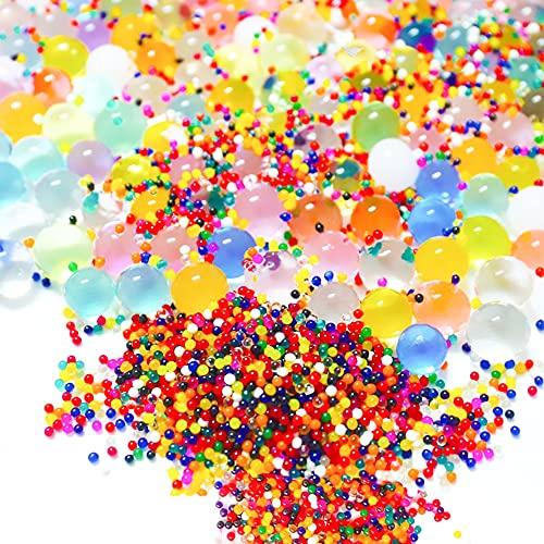 Jusduit Wasserperlen, 10000 Stücke 12 Farben Bunte Wasserperlen Gel Perlen Wasser Bälle Dekorative für Vase Füllstoff,Blumen,Pflanzen,Wasserkugeln Spielzeug,Hochzeit,Geburtstag und House Dekoration