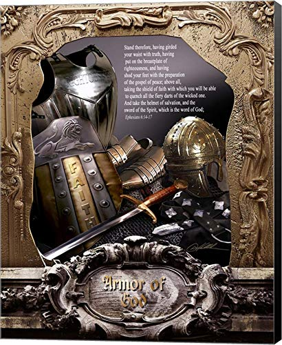 Armor of God by Danny Hahlbohm Canvas Art Wall Picture, Museum Wrapped with Black Sides, 16 x 20 inches