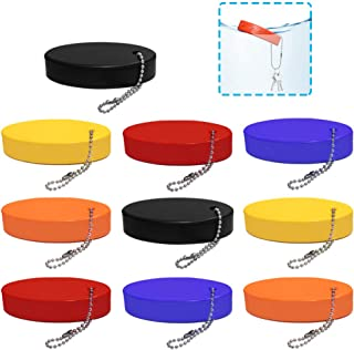 AFUNTA Foam Floating Keychain, 10 Pcs Oval Foam Float Key Chain for Outdoor Sports, Fishing, Boating - Orange/Yellow/Blac...