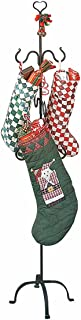 Renovators Supply Manufacturing Christmas Stocking Holder Free Standing Wrought Iron Heart Top Easy Assembly