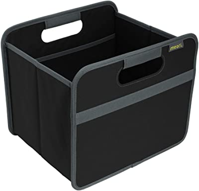 meori A100025 Lava Black Storage 15Liter/4 Gallon Shelf Organizer Sewing Records Books Clothes Games carry up to 65lbs Foldable Box Small, 1-Pack