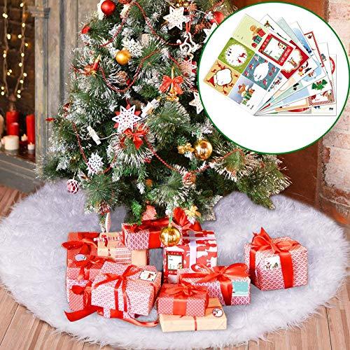 Joyjoz Jupe De Sapin de Noël, Blanc Peluche Neige Décorations d