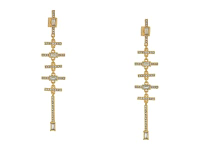 Vince Camuto Horizontal Linear Earrings (Gold/Crystal) Earring