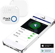 iTrack Motion Key Finder, Bluetooth Wireless Keys Phone Tracker Locator Smart Two Way Anti-Lost Device for USB Drive, pad, Keychain, Wallet, Bags, Purse, Luggage and Hotel Door.