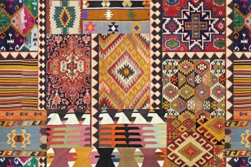 Vilber Bohemian Kilim 2495 Alfombra, Vinilo, Multicolor, 153x230x0.2cm