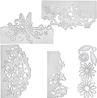 SENHAI Lot de 5 matrices de découpe en métal en forme de fleurs pour scrapbooking, album photo, fabrication de cartes, cadeau