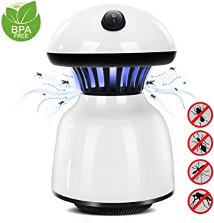 Electronic Mosquito Trap Lamp with Switch, LED Killer Effective Indoor Trap Light for Bedroom,Kitchen and Office White