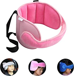 StoHua Child Car Seat Head Support - Carseat Sleeping Head Support Band for Toddler Kids, Baby Travel Safety Neck Relief Nap Helper, Pink
