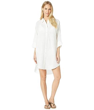 Seafolly Linen Shirtdress Cover-Up (White) Women