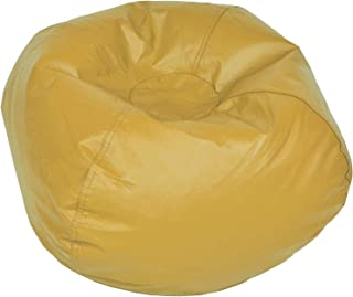 ACEssentials Vinil Bean Bag Chairs for Kids and Teens, Yellow