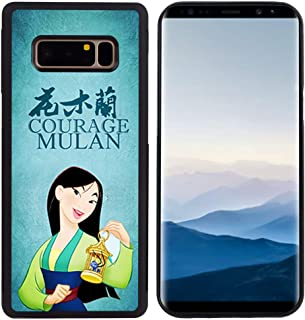 DISNEY COLLECTION Tire Phone Case Compatible with Samsung Note 8 (6.3 inch) Mulan Skid Shock Proof Protective Cover