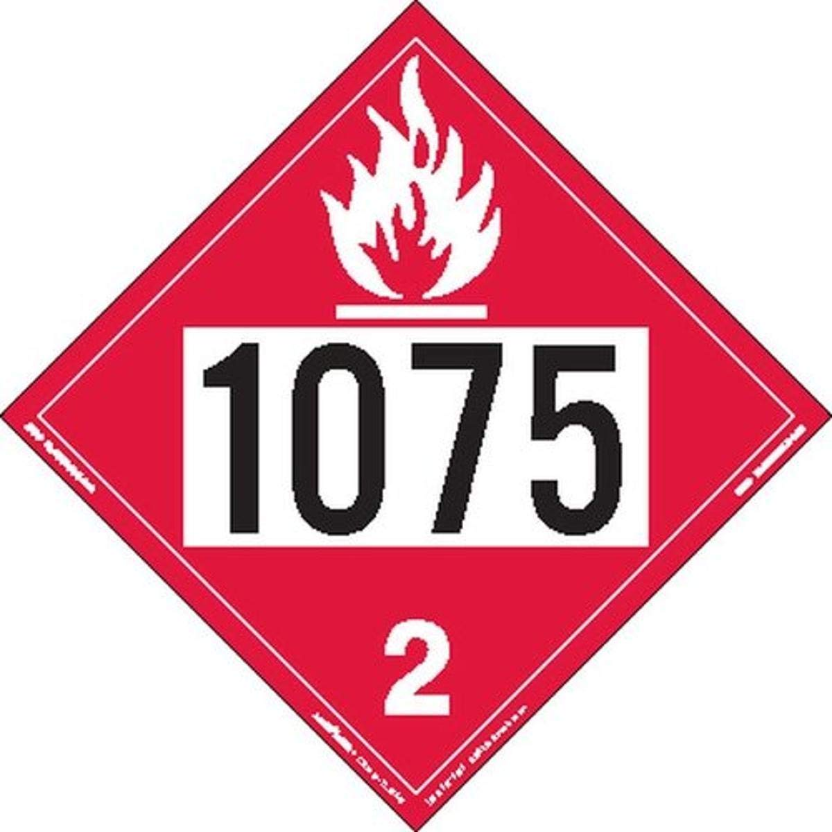 Sale Special Price Labelmaster Z-IDP UN 1075 Flammable Free shipping anywhere in the nation Placard Gas Hazmat Permanen