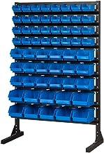 Juego de 35 contenedores de almacenamiento de acero para talleres/garajes, resistentes, para herramientas, azul