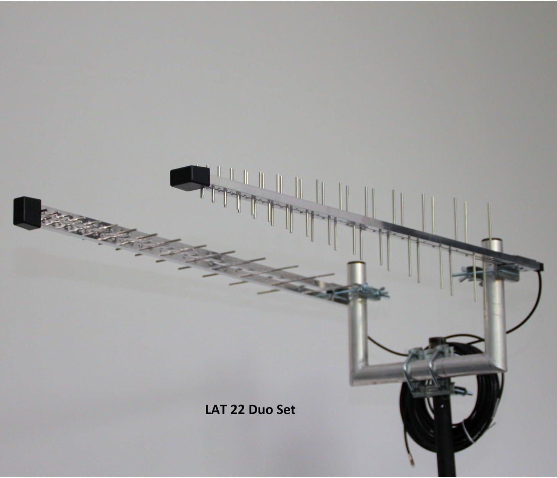 Wittenberg Antennen/Technik - Juego de antenas LAT 22 LTE con cable de 2 x 10 m, adaptadores FME y 2 SMA