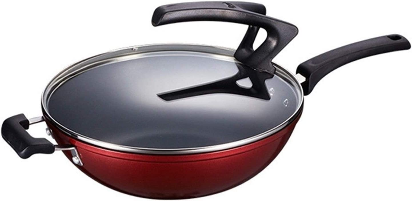 Flat Bottom Wok Aluminum Non-Stick Fry Pan OFFicial low-pricing Cookware Omelette wit