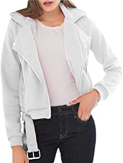 Women's Autumn Slim fit Oversized Belted Motorcycle Jacket